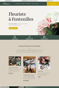 Création Site Internet pour Fleuriste