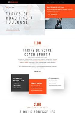 Création Site Web pour Coach Sportif