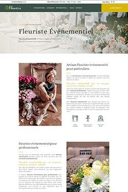 Création Site Web pour Fleuriste Evenementiel