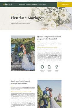 Création Site Web pour Fleuriste Mariage
